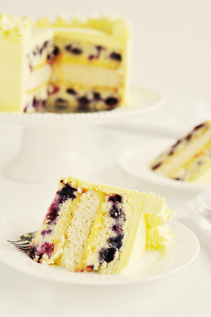 Lemon Curd Blueberry Pound Cake