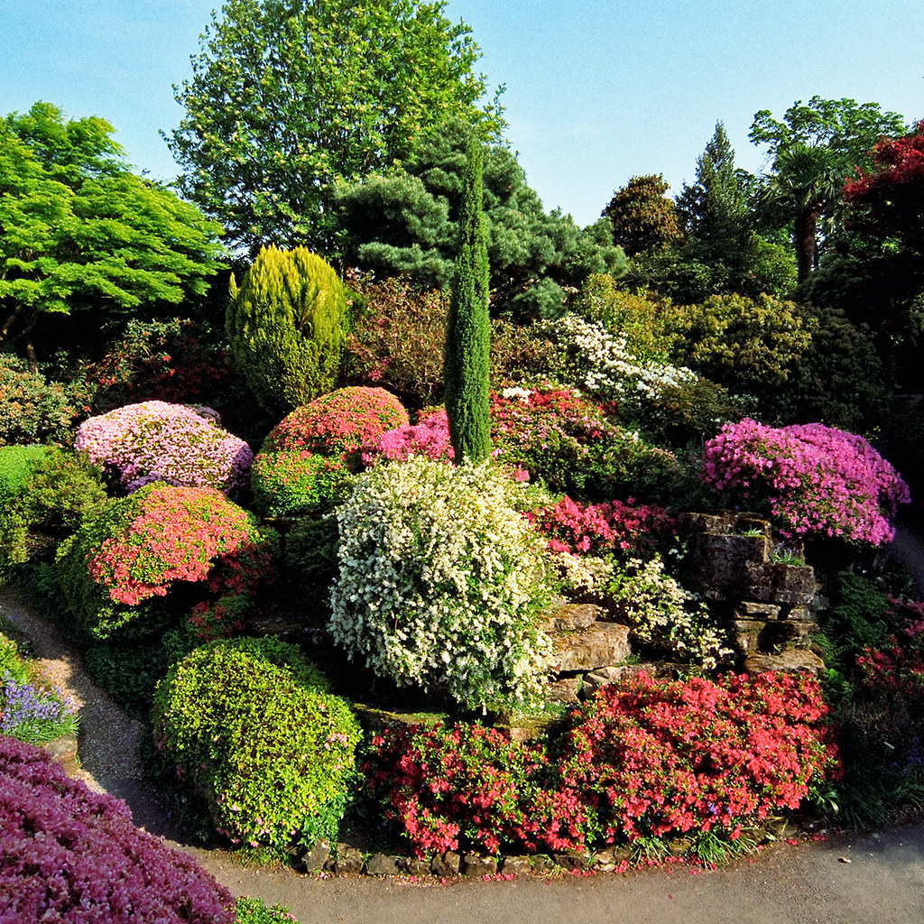 Colorful Rock Garden at Leonardslee Gardens, West Sussex ... on Backyard Rocks  id=28172