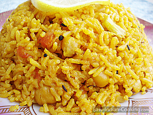 Channa Chole Chickpeas Rice Pulao - Easy Indian Recipes ...