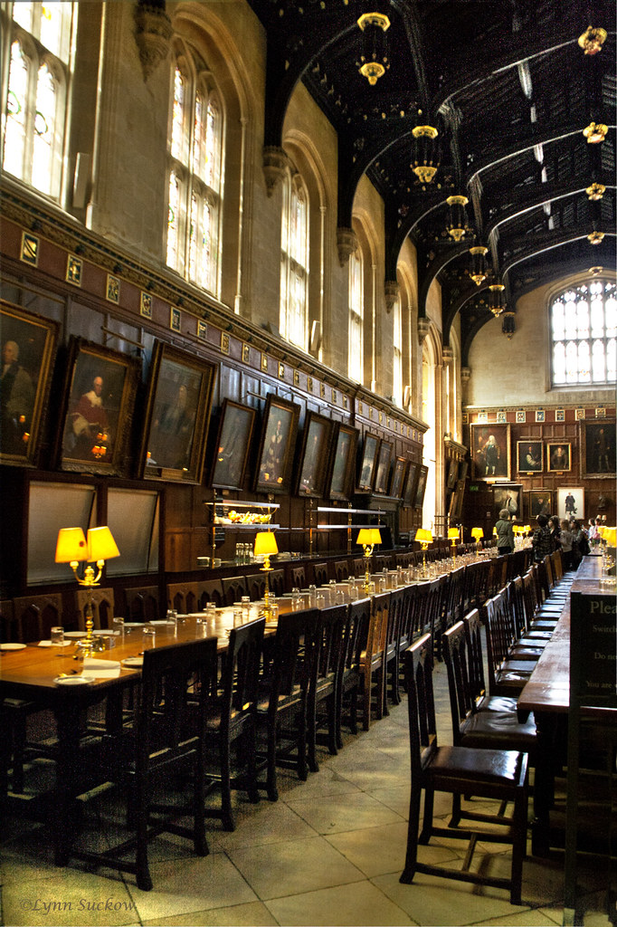 Harry Potter S Dining Hall Christchurch S Hall Is One Of