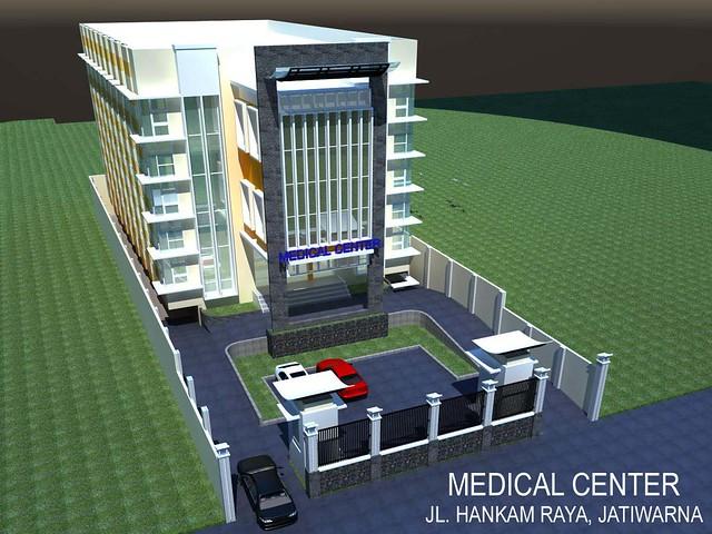 gambar sketsa medical center rumah bersalin ibu anak