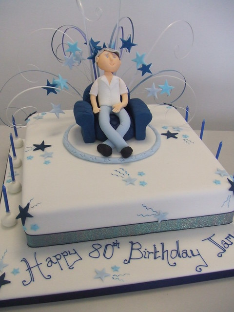 CAKE - 80th birthday cake  Flickr - Photo Sharing!