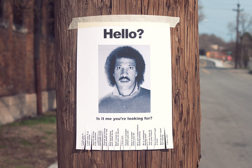 lionel richie hello flyer whoever made the original