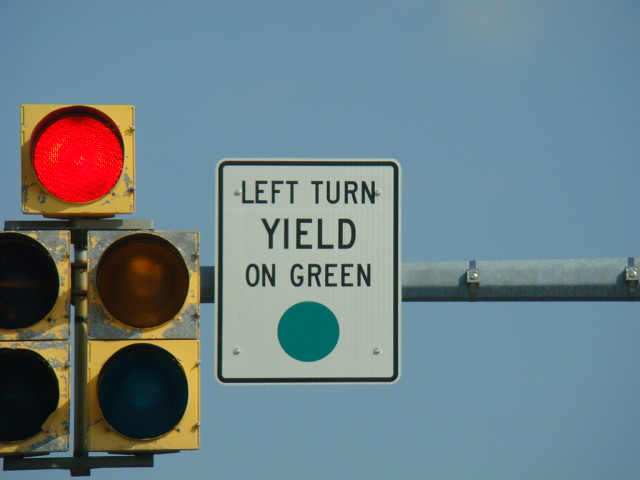 Road Signs   Left Turn Yield on - 85.6KB