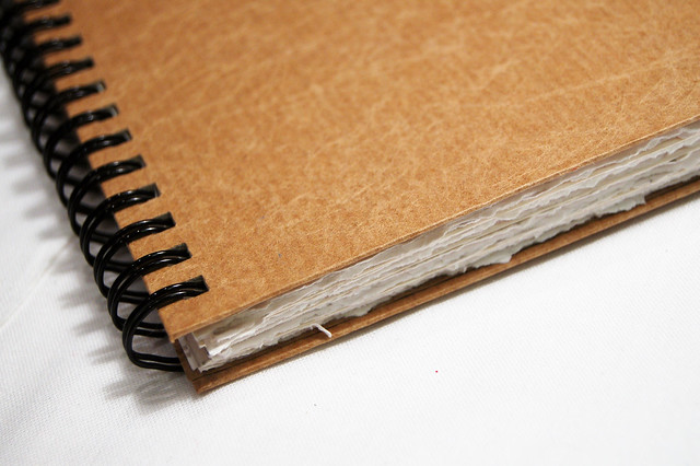 Brown paper sketchbook by iHanna