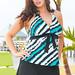 Softening Rip Tide Plus Size Halter Skirtini by Beach Belle®