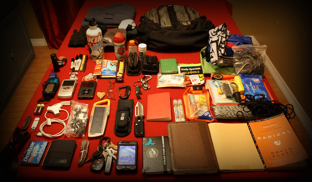 Contents of my College Backpack