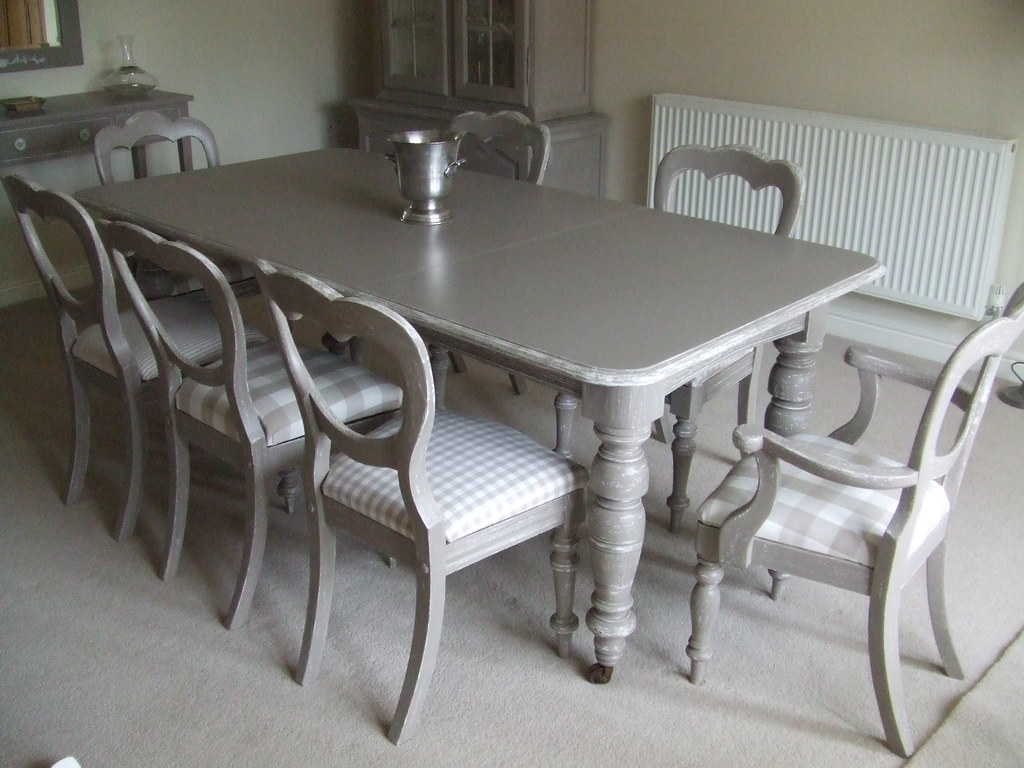 Charlston Grey Dining Table Chairs Paintedfurniture19 Flickr