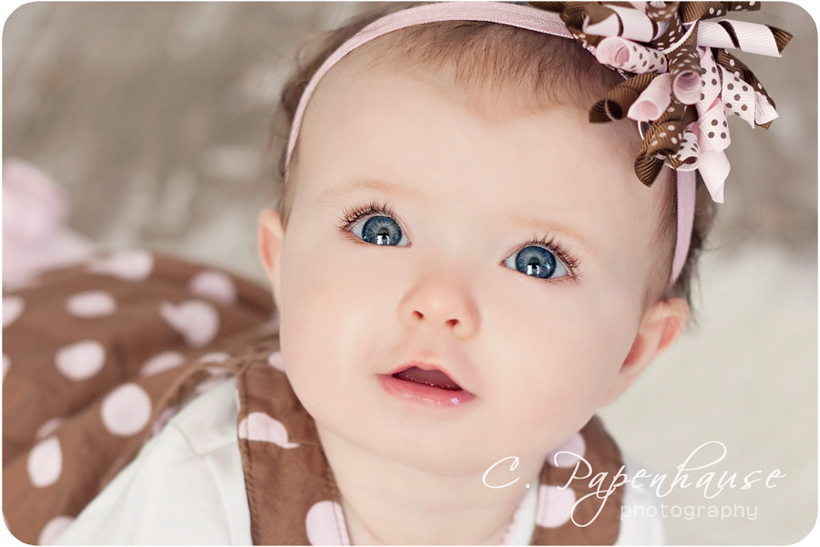 Baby blue eyes {explored!} | One of many favorites of this ... Cute Baby Girls With Brown Hair And Blue Eyes