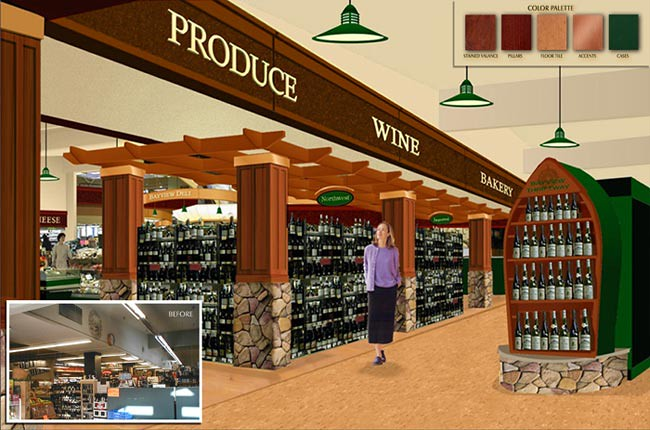 Interior Grocery Design   Produce Area Design   Conceptual ...