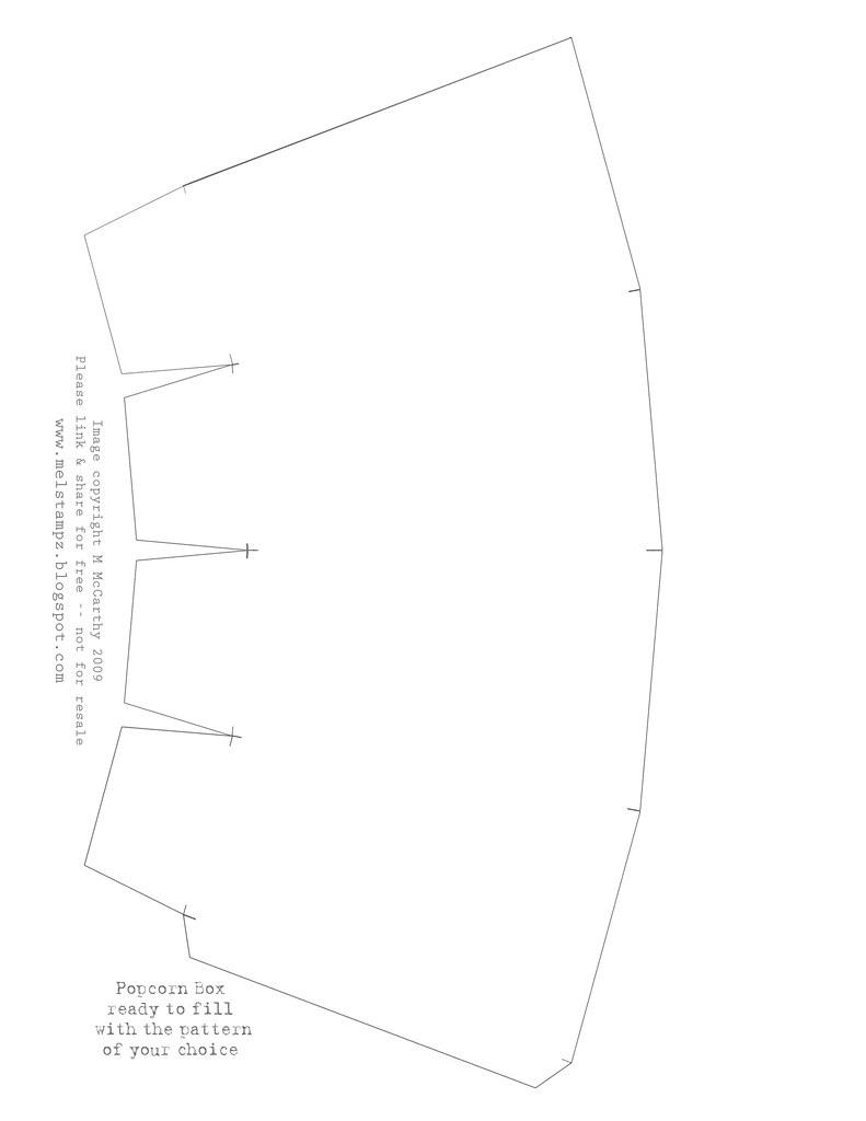 popcorn box printable template pdf