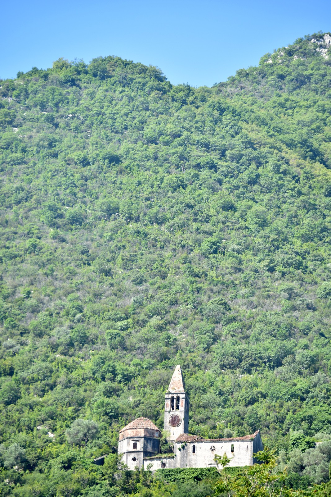 abandoned church atop the mountains of Kotor, Montenegro