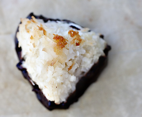 Chocolate-Dipped Coconut Macaroons | by Elissa @ 17 and Baking
