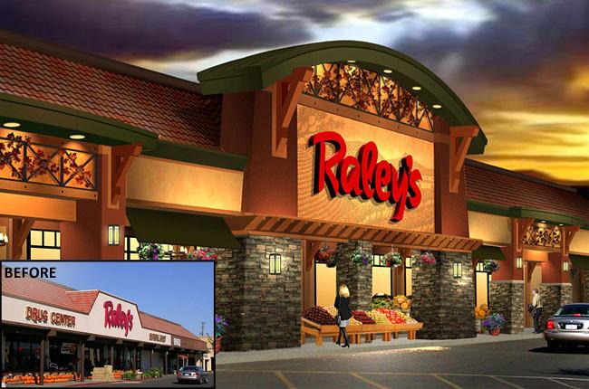 Exterior market design grocery store rendering market for Convenience store exterior design