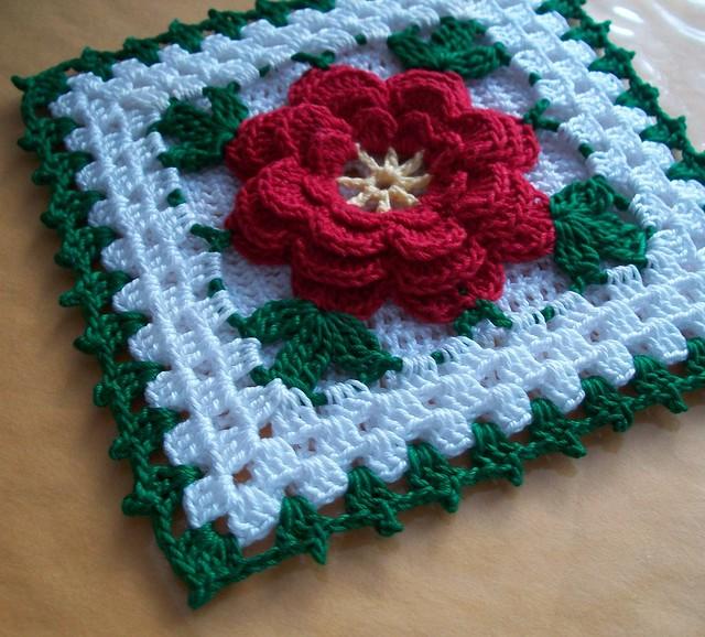 Crochet Flower Potholder Pattern : Thread Potholder Crocheted from Vintage Pattern Flickr ...