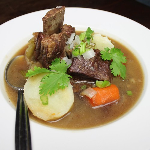 caldo de costillas (Colombian beef short rib soup) | by SeppySills