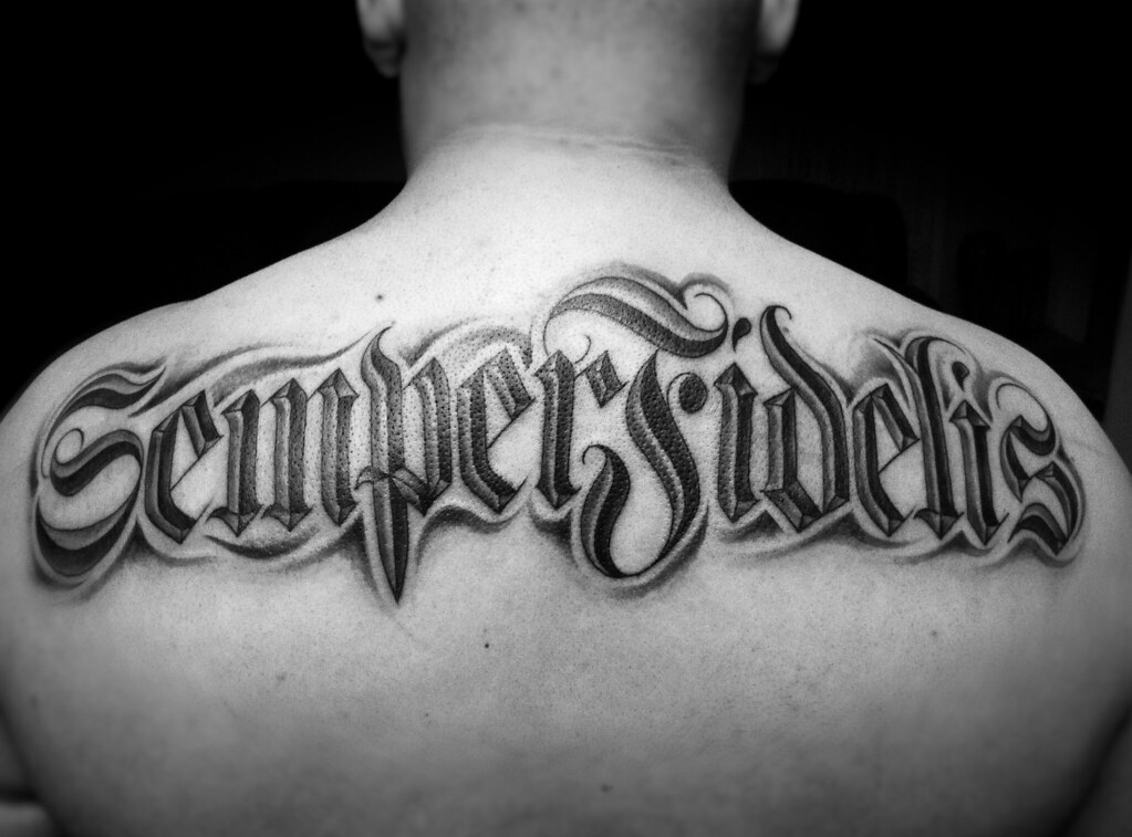 Semper fidelis semper fidelis is latin for always for Vulgar temporary tattoos