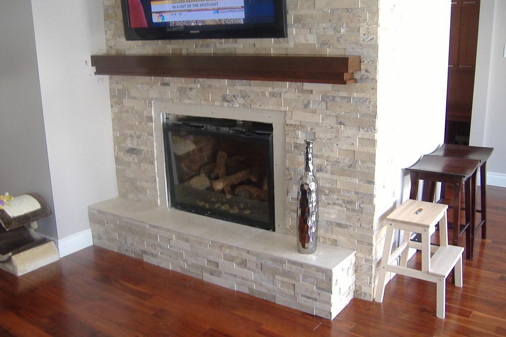Split face stone fireplace | Split face stone fireplace | Flickr