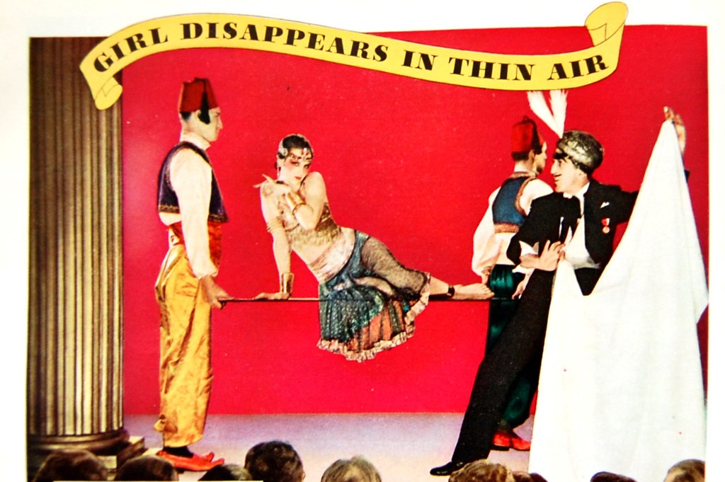1933 camel cigarettes vanishing lady magic trick