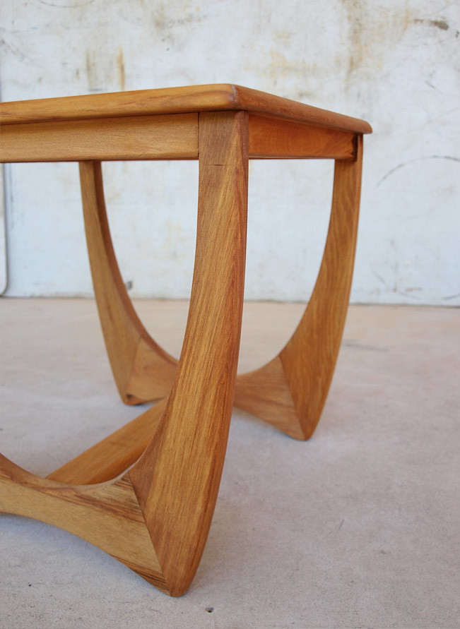 Kalmar teak retro coffee table c1960s teak kalmar teak for Coffee tables ebay australia