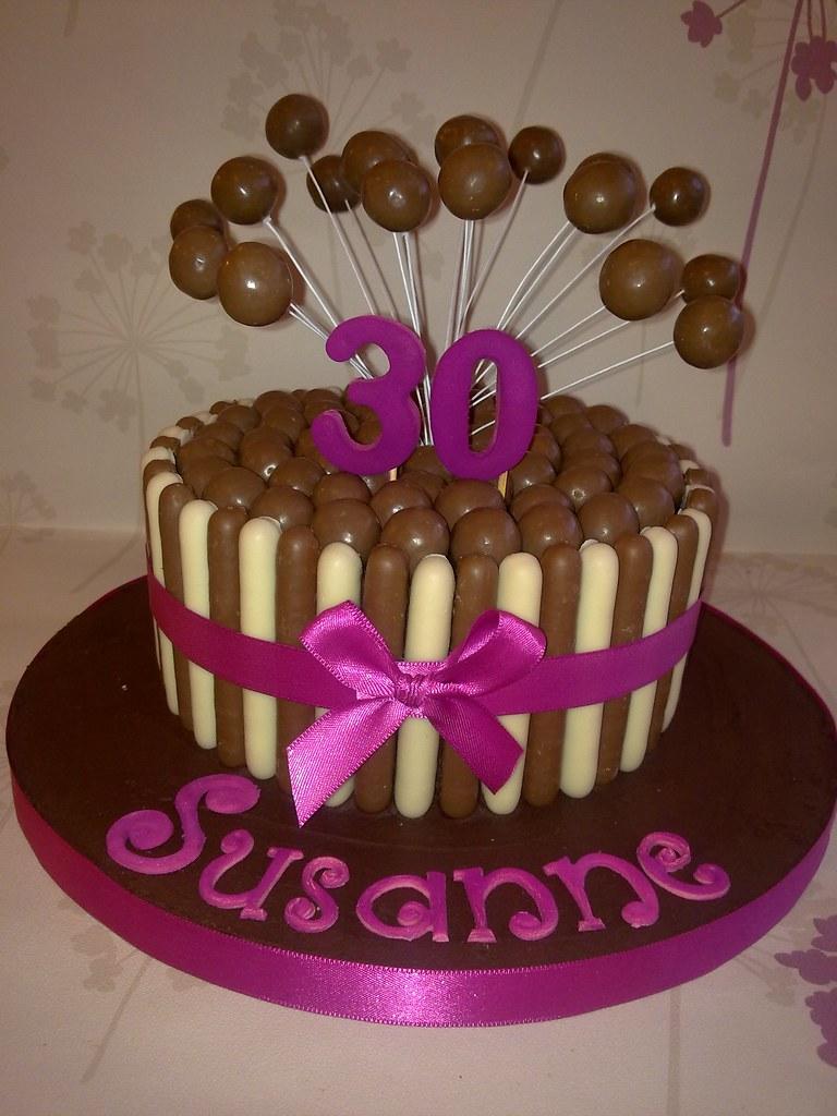 Pink Malteser Cake Www Creationsbypaulajane Co Uk