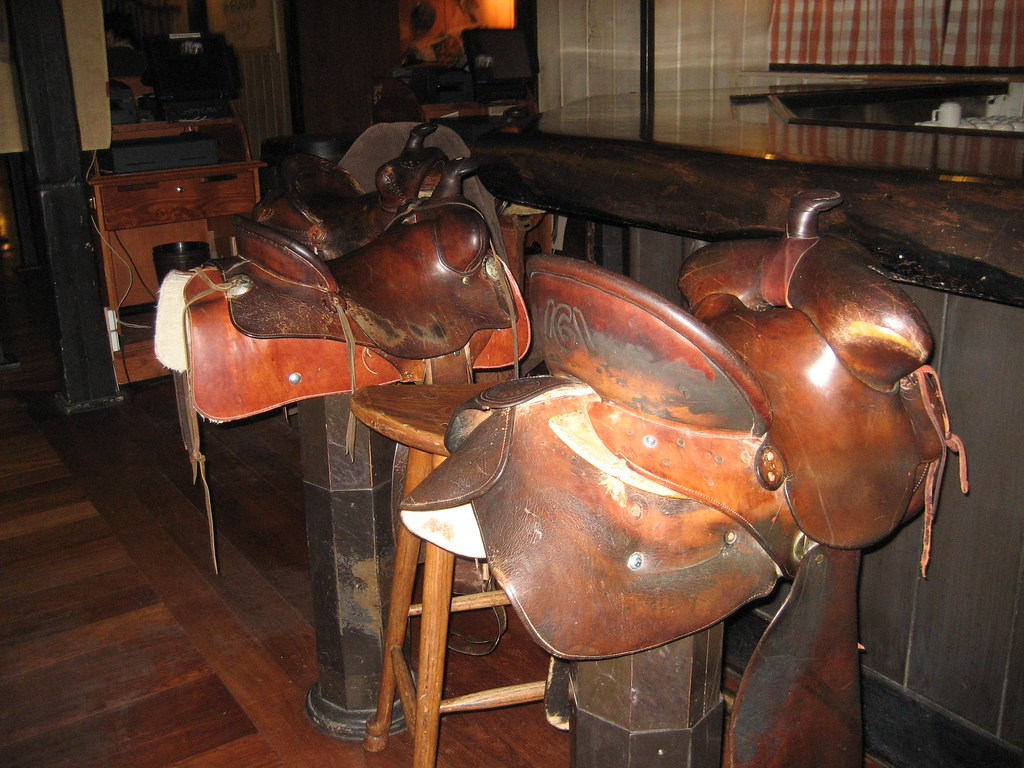 Western Saddle Bar Stools In The Chuck Wagon Cafe Flickr