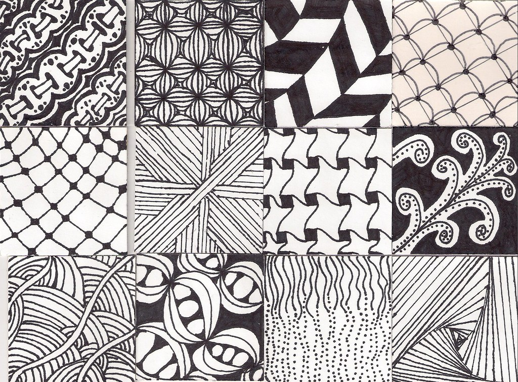 Zentangle Pattern Twinchies Part 2 Top EyeletRibbon