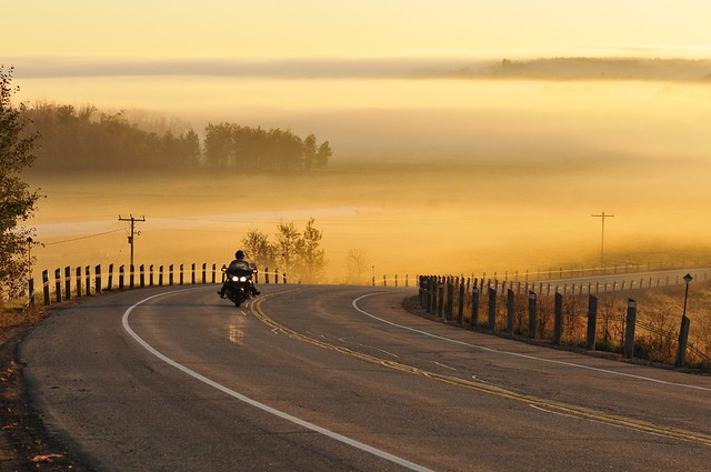 Motorcycle scenic sunrise | Flickr - Photo Sharing!