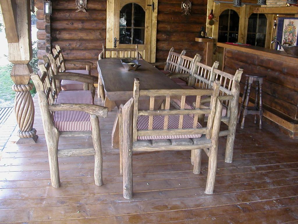Sillas de madera rusticas silla rustica de troncos de madera foto silla rustica sillas de - Sillas rusticas ...