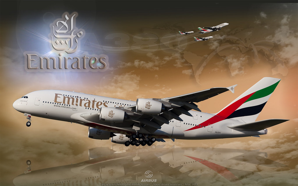 Wallpaper 1920 airbus a380 emirates airlines cs5 for 3d wallpaper for home uae