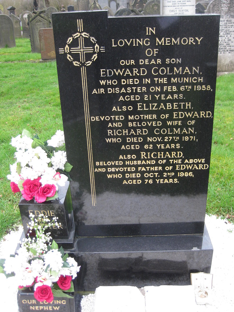 Colman family grave | Eddie Colman was one of the Busby ...