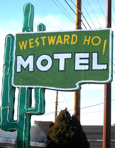 Westward Ho Motel, Historic Route 66, Central Ave, Albuquerque, NM, built 1948, style: Googie | by madronaway