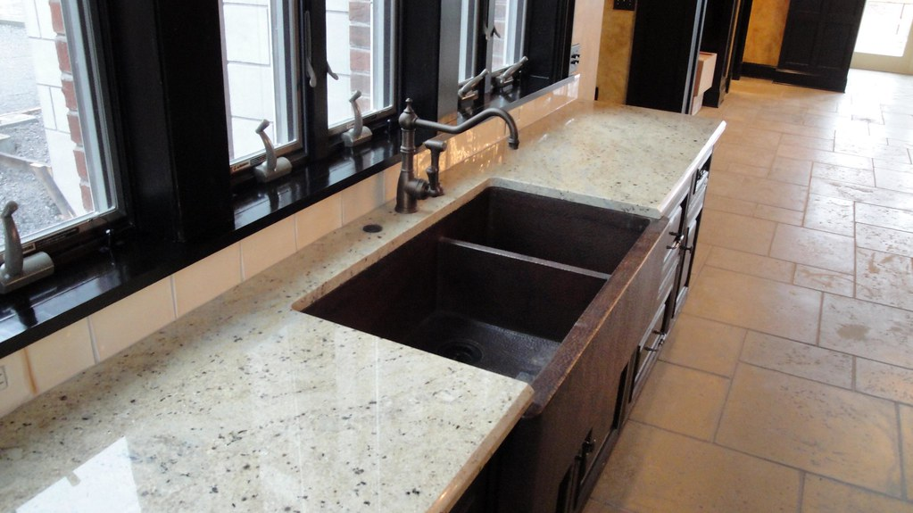 Gold Antique Granite With Copper Sink Stone Creek Surfaces Flickr