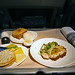 Entree for dinner onboard Air New Zealand