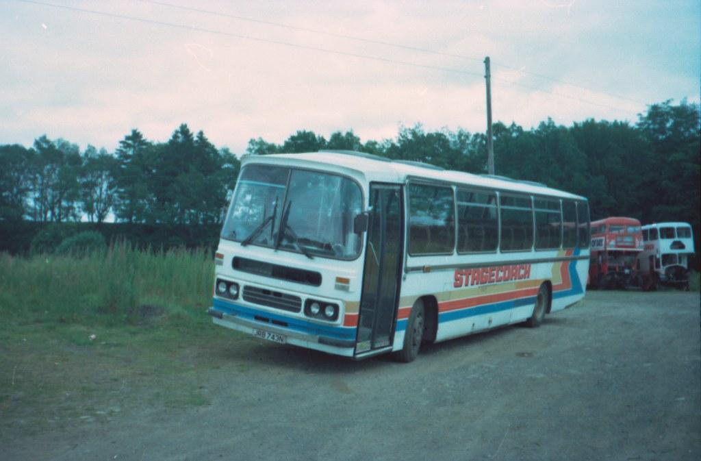 Stagecoach, Perth JRB 743N Leyland Leopard Duple Dominant ...