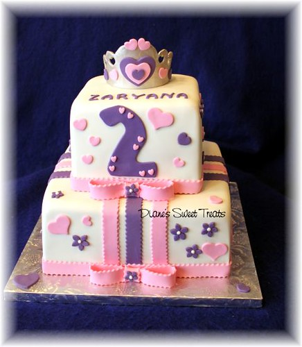 2nd Year Birthday Cake Designs For Baby Girl : Zaryana s 2nd birthday cake Flickr - Photo Sharing!