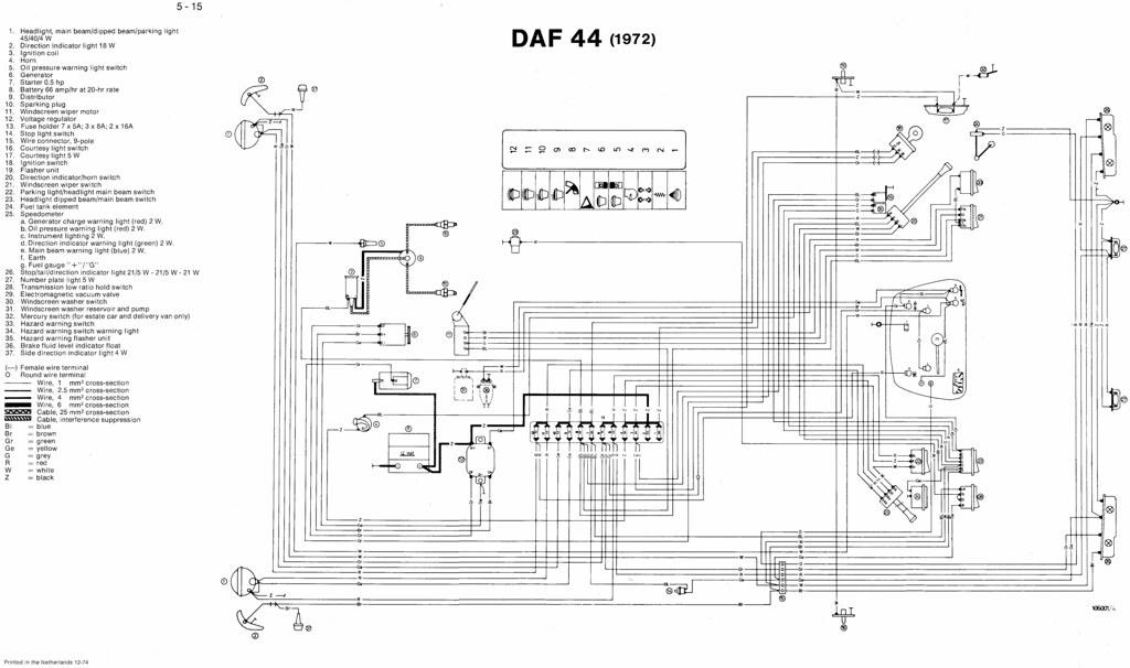 daf 44  1972  wiring diagram macplaxton flickr