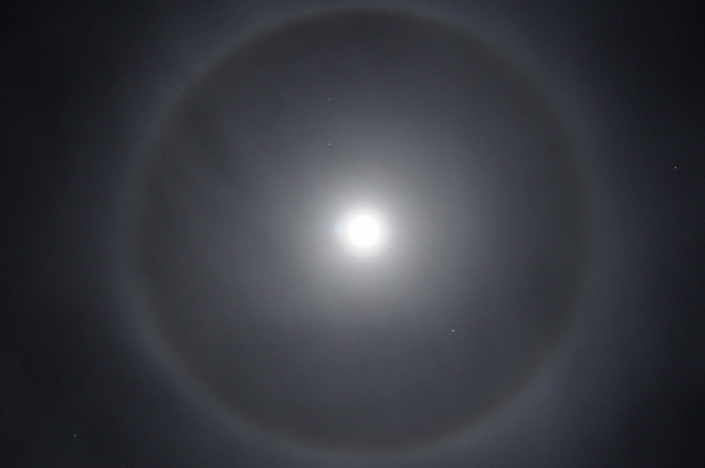 ring around the moon newton flickr