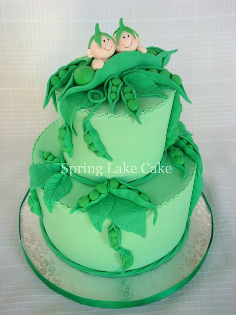 Pea In The Pod Baby Shower Cakes