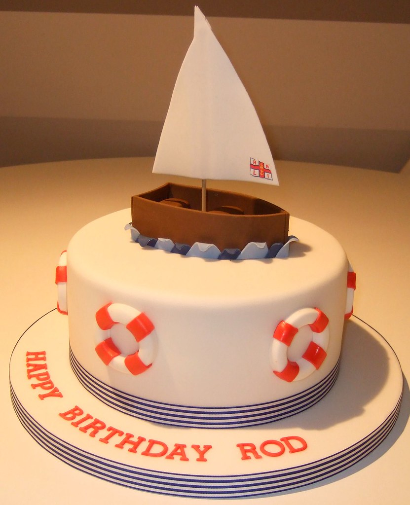 Boat Birthday Cake Images : Boat cake Finished this late Tuesday night could not get ...