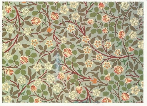 Art William Morris Arts And Crafts Clover Pattern