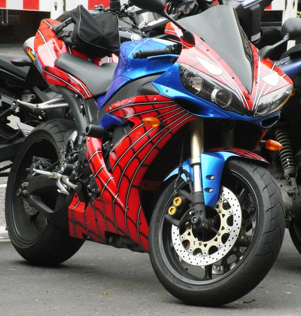 Spiderman motorcycle brian parkin flickr - Spider man moto ...
