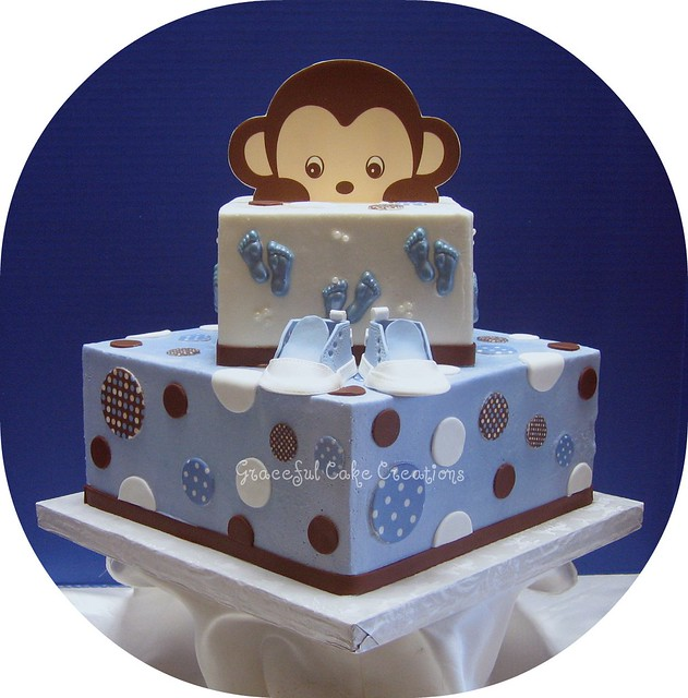 blue and brown baby shower cake explore graceful cake crea
