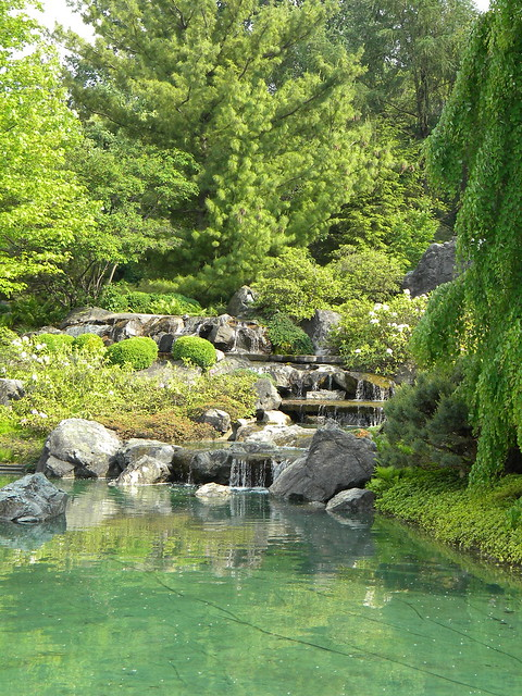 Montreal Japanese Garden Waterfall Flickr Photo Sharing