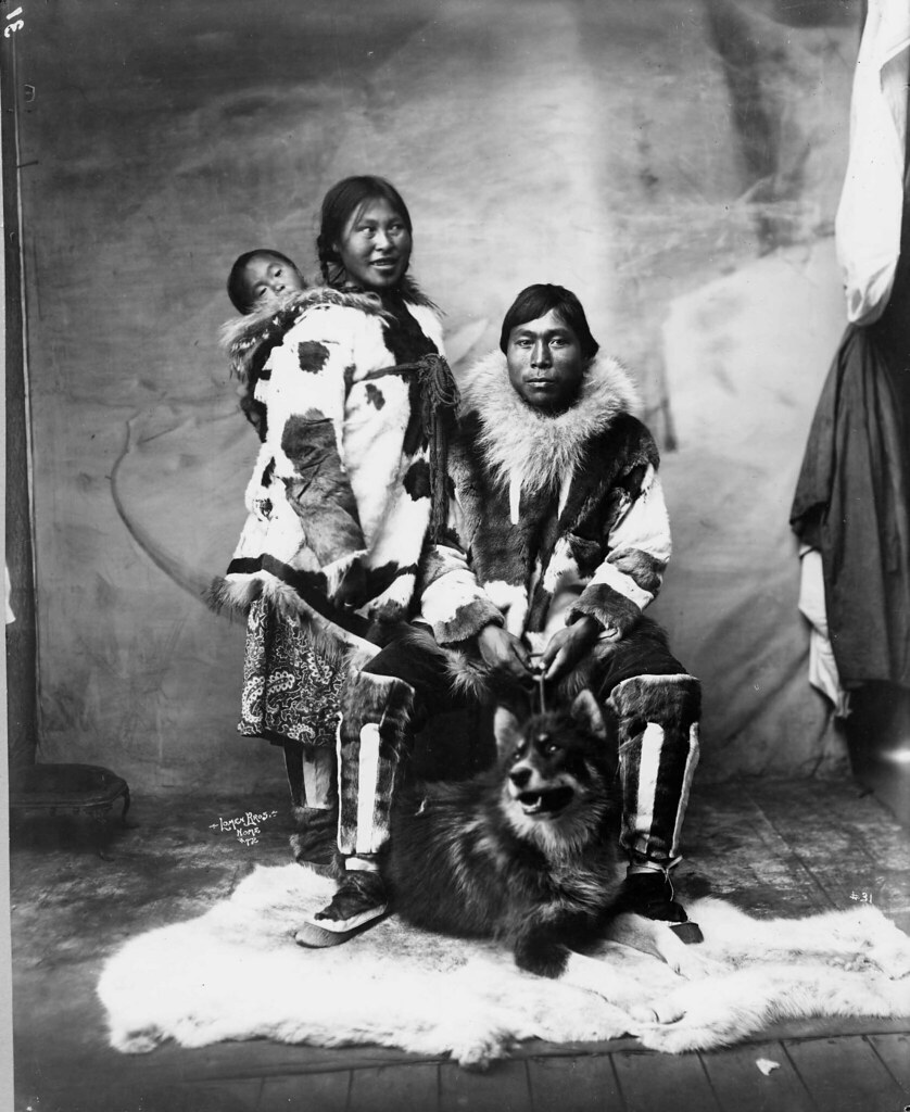 Inuit Family And Dog Image No Nd 1 73 Title Inuit