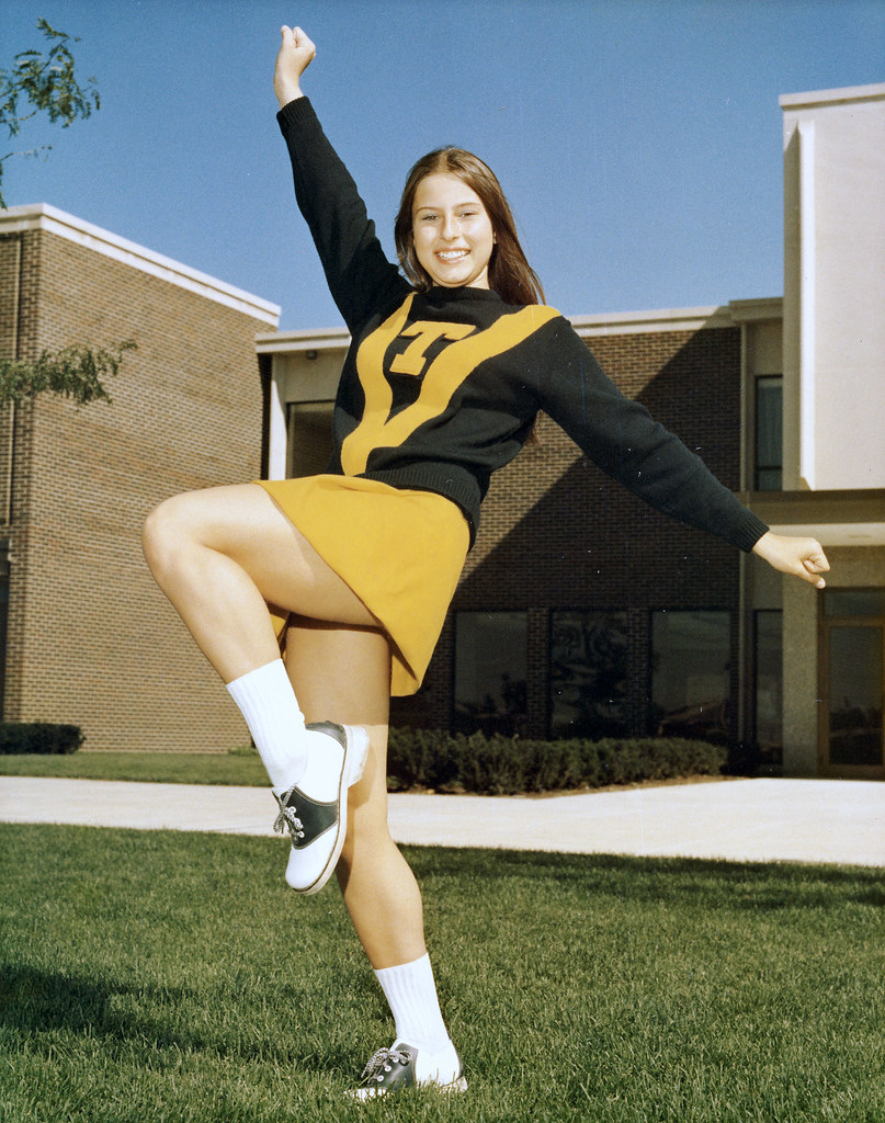 Cheerleader Wearing Saddle Shoes