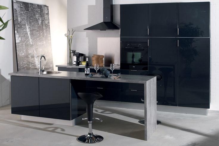 cuisine quip e anthracite mod le design brillant asti flickr. Black Bedroom Furniture Sets. Home Design Ideas