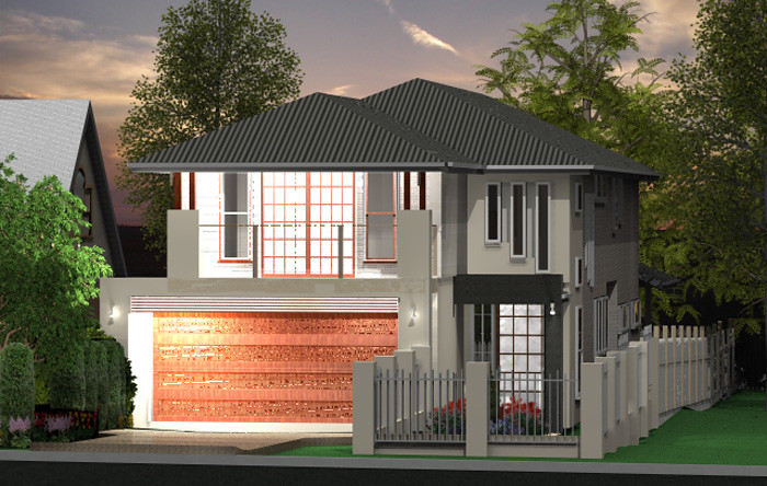 Khartoum small lot small lot highset house design 4 bed for Highset house plans