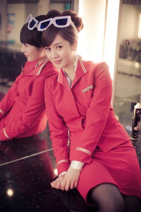 Shenzhen airline hostess pleasuring