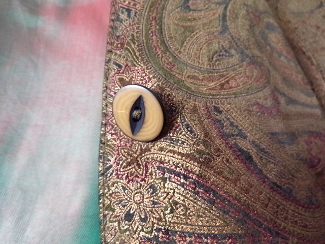 Thrifting Sept. '16: Waistcoat details